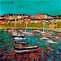 detail of portrush painting - click to see all tour paintings