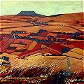 detail of Antrim painting: Slemish Mountain
