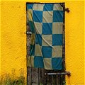 Door with flag near Lixnaw in County Kerry