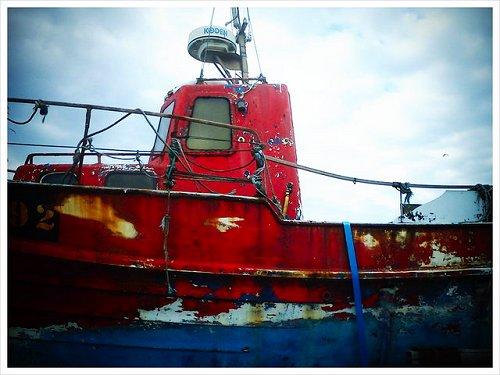 Wexford, Kilmore Quay, a boat