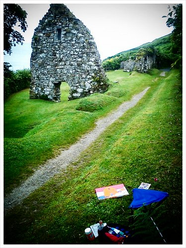 painting St Declan's Hermitage in Ardmore, Co. Waterford