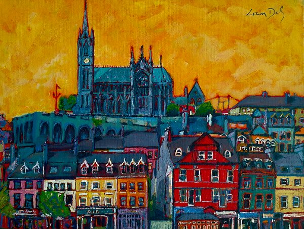 Painting of Cobh in County Cork