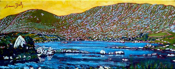 Painting of Loch Con Aortha in County Galway